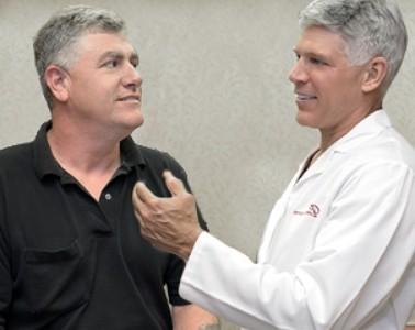 Dr. Paul Parker and Patient